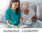 happy patient is holding... | Shutterstock . vector #1132863947