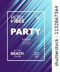 night party banner template for ... | Shutterstock .eps vector #1132867364