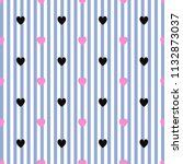 black heart pattern on red and...   Shutterstock . vector #1132873037
