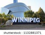 winnipeg  manitoba canada  ... | Shutterstock . vector #1132881371