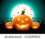 halloween pumpkins | Shutterstock .eps vector #113289001