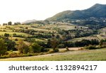 mountainous landscape with... | Shutterstock . vector #1132894217