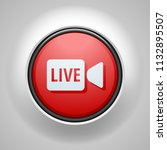 live video button illustration | Shutterstock .eps vector #1132895507