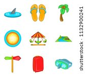 recreational activity icons set.... | Shutterstock . vector #1132900241