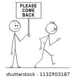 cartoon stick drawing... | Shutterstock .eps vector #1132903187