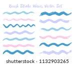 vintage brush stroke waves... | Shutterstock .eps vector #1132903265