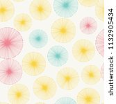 seamless pattern with radial... | Shutterstock .eps vector #1132905434