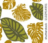 seamless hand drawn botanical... | Shutterstock .eps vector #1132914551