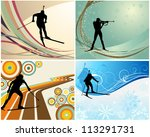 sport background set with... | Shutterstock .eps vector #113291731