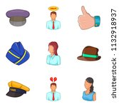 description of personnel icons... | Shutterstock . vector #1132918937