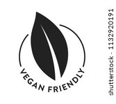 vegan vegetarian friendly... | Shutterstock .eps vector #1132920191