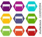 brazier icon set many color... | Shutterstock . vector #1132925594