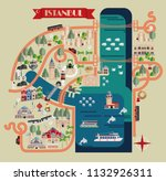 istanbul s tourist map... | Shutterstock .eps vector #1132926311