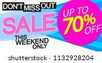 sale poster  banner design...   Shutterstock .eps vector #1132928204