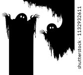 halloween nightmare monster... | Shutterstock .eps vector #1132932611