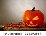 Stock photo halloween pumpkin 113293567
