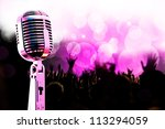 live music background.vintage... | Shutterstock . vector #113294059