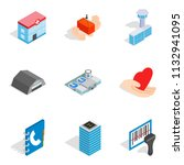owner of apartment icons set.... | Shutterstock . vector #1132941095