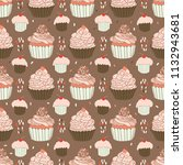 baked cupcakes food vector...