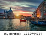 sunset in venice. image of... | Shutterstock . vector #1132944194
