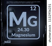 magnesium symbol.chemical... | Shutterstock .eps vector #1132956251