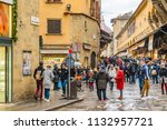 florence  italy  january   2018 ... | Shutterstock . vector #1132957721