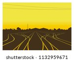 rail yard at the afternoon with ... | Shutterstock .eps vector #1132959671