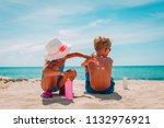 sun protection  little girl... | Shutterstock . vector #1132976921