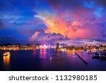 hong kong cityscape in magic... | Shutterstock . vector #1132980185