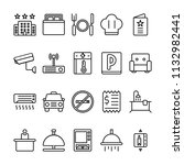 hotel icons in for any purposes.... | Shutterstock .eps vector #1132982441