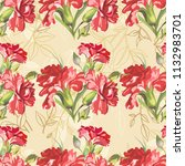 seamless floral pattern with... | Shutterstock .eps vector #1132983701