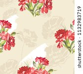 seamless floral pattern with... | Shutterstock .eps vector #1132983719