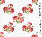 seamless floral pattern with... | Shutterstock .eps vector #1132983725