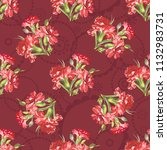 seamless floral pattern with... | Shutterstock .eps vector #1132983731