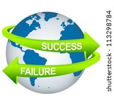 green success and failure arrow ... | Shutterstock . vector #113298784