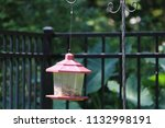 lantern style bird feeder in... | Shutterstock . vector #1132998191