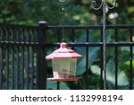 lantern style bird feeder in... | Shutterstock . vector #1132998194