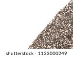 chia seeds on white background. | Shutterstock . vector #1133000249