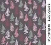 fern frond herbs  tropical... | Shutterstock .eps vector #1133006381