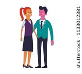 cute and elegant couple pop... | Shutterstock .eps vector #1133012381
