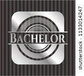 bachelor silver shiny badge | Shutterstock .eps vector #1133014247