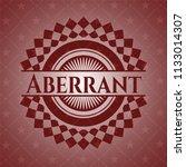 aberrant vintage red emblem   Shutterstock .eps vector #1133014307