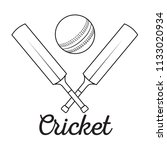 abstract cricket label | Shutterstock .eps vector #1133020934
