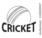 abstract cricket label   Shutterstock .eps vector #1133020937
