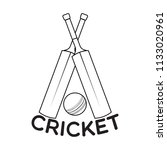 abstract cricket label   Shutterstock .eps vector #1133020961