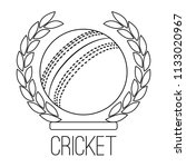 abstract cricket label   Shutterstock .eps vector #1133020967