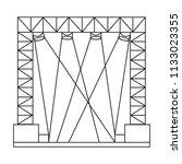 abstracct cinema symbol | Shutterstock .eps vector #1133023355