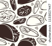 seamless pattern of mexican...   Shutterstock .eps vector #1133027447