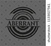 aberrant black badge   Shutterstock .eps vector #1133027561