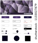 dark purple vector ui kit in...